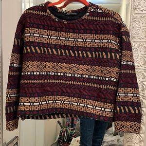 Zara tribal print sweater